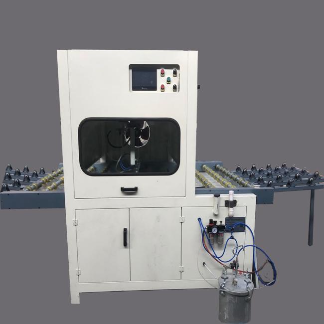 水晶封釉机背景墙竹木纤维板水晶封釉机 喷釉机
